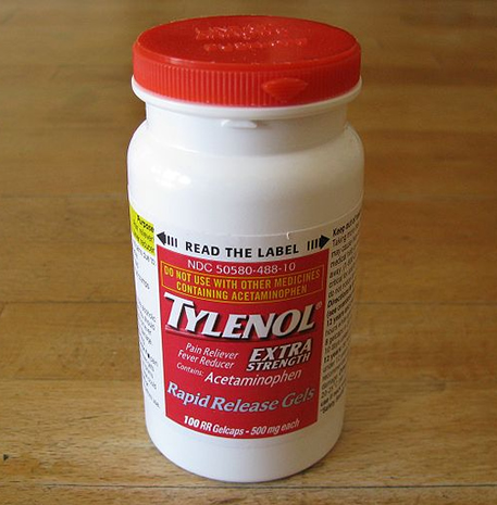 tylenol bottle acetaminophen