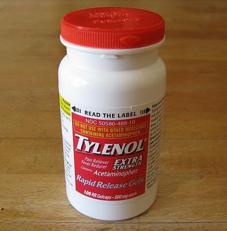 tylenol bottle acetaminophen